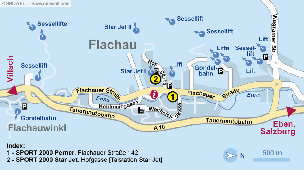 Ski hire shop SPORT 2000 Perner, Flachau in Flachauer Str. 142
