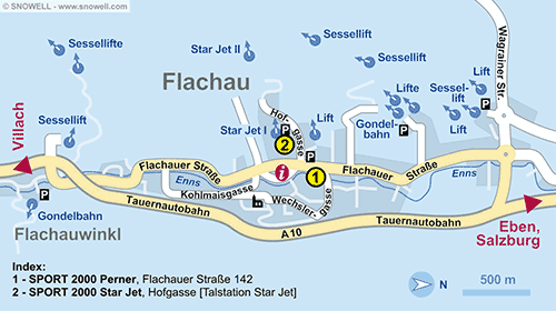 Resort Map Flachau