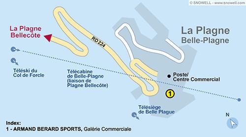 Resort Map La Plagne - Belle-Plagne