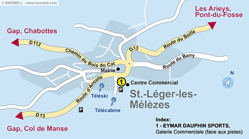 Resort Map Saint Leger les Mélèzes