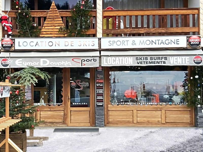 Ski hire shop EYMAR DAUPHIN SPORTS, Saint Leger les Mélèzes in Galerie Commerciale (face aux pistes)