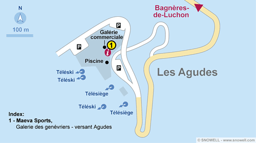 Resort Map Les Agudes