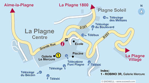 Resort Map La Plagne - Centre