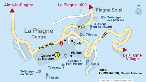 Resort Map La Plagne - Centre
