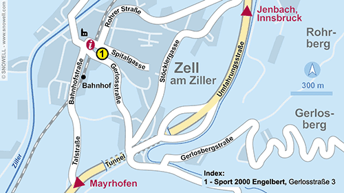 Resort Map Zell am Ziller