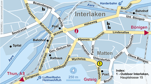 Resort Map Interlaken