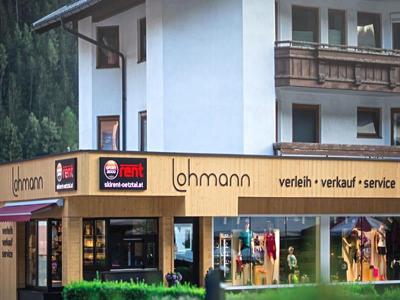 Ski hire shop SPORT 2000 Lohmann, Hauptstrasse 45 in Oetz