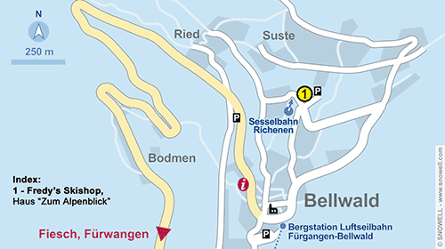 Resort Map Bellwald