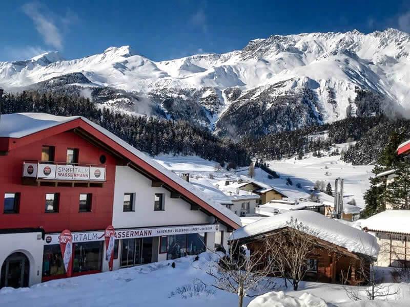 Ski hire shop Sportalm Wassermann, HNr. 216 in Nauders