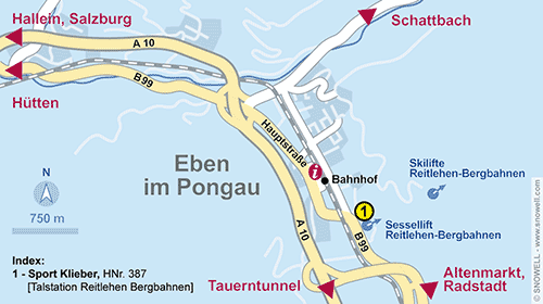 Resort Map Eben im Pongau