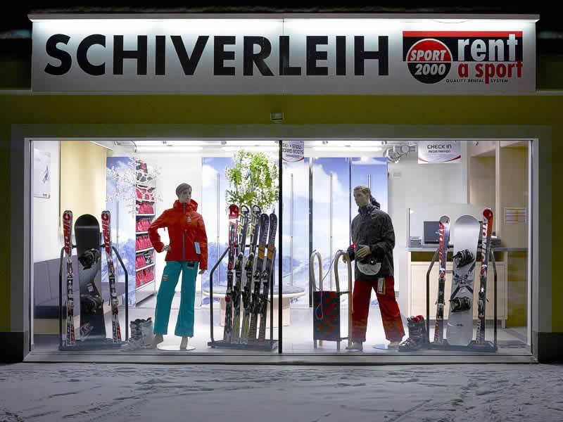 Ski hire shop SPORT 2000 Knitel, HNr. 77 in Holzgau