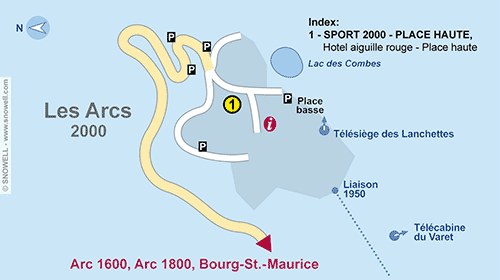 Resort Map Les Arcs 2000