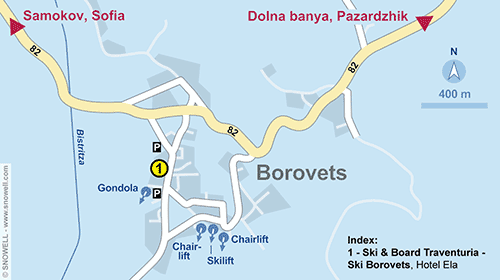 Resort Map Borovets