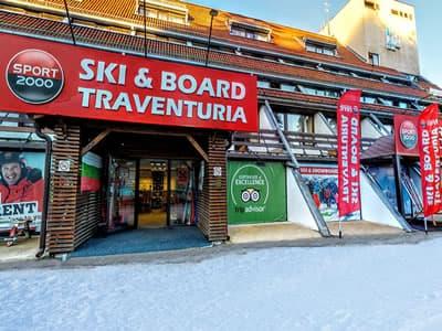 Ski hire shop Ski & Board Traventuria - Ski Borovets, Borovets in Hotel Ela