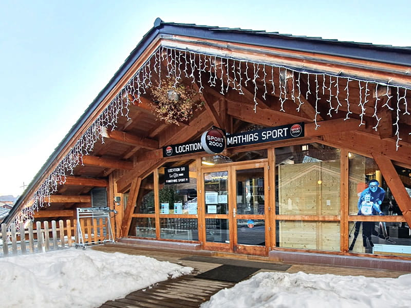 Ski hire shop MATHIAS SPORTS, Hotel le Crêt - 905 Route de la Plagne in Morzine