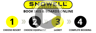 Ski hire in 4 easy steps