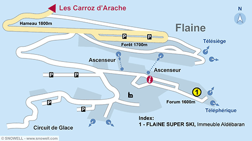 Resort Map Flaine