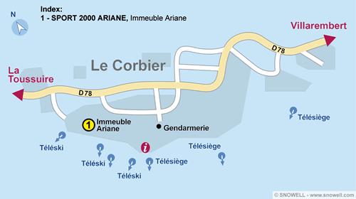 Resort Map Le Corbier
