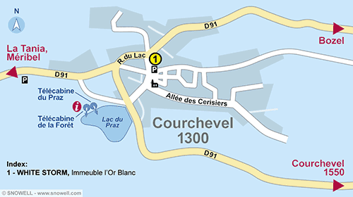 Resort Map Courchevel 1300