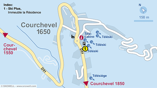 Resort Map Courchevel 1650