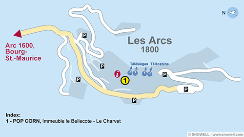 Resort Map Les Arcs 1800