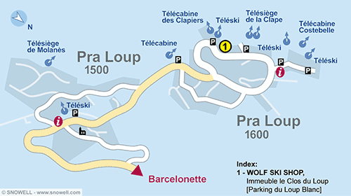Resort Map Pra Loup