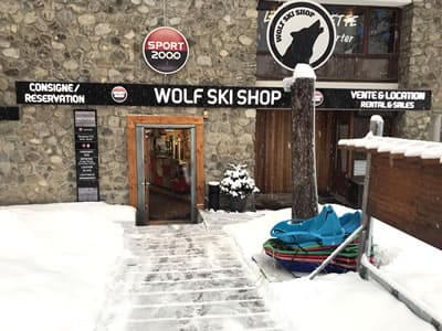 Ski hire shop WOLF SKI SHOP, Pra Loup in Immeuble le Clos du Loup [Parking du Loup Blanc]