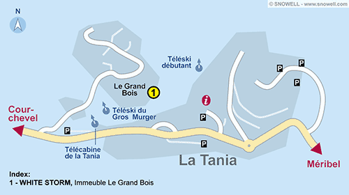 Resort Map La Tania
