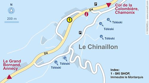 Resort Map Le Chinaillon - Le Grand Bornand