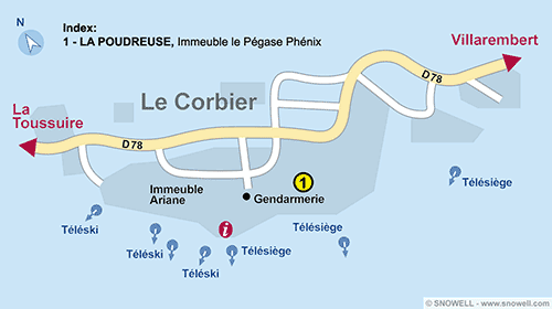 Resort Map Le Corbier