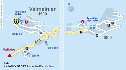 Resort Map Valmeinier 1500