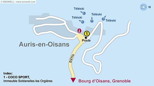 Resort Map Auris-en-Oisans