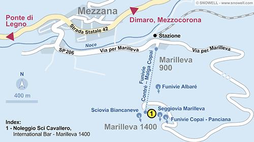 Resort Map Marilleva 1400