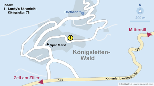 Resort Map Königsleiten-Wald