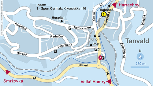 Resort Map Tanvald