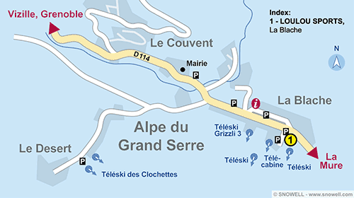 Resort Map Alpe du Grand Serre