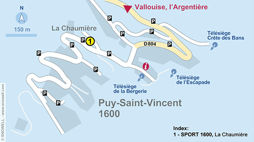Resort Map Puy Saint Vincent 1600