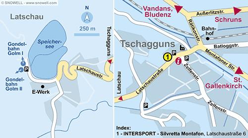 Resort Map Tschagguns