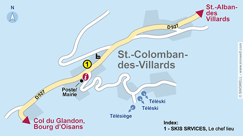 Resort Map Saint Colomban-Villards