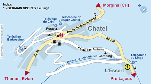 Resort Map Chatel
