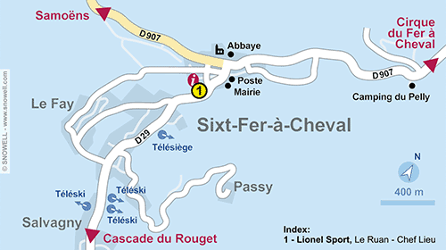 Resort Map Sixt Fer à Cheval