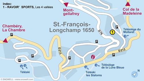 Resort Map Saint Francois Longchamp