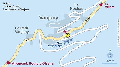 Resort Map Vaujany