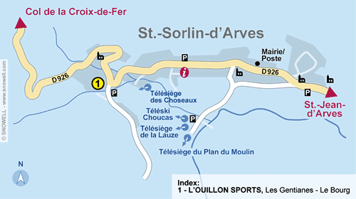 Resort Map Saint Sorlin d Arves
