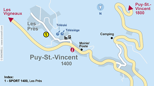 Resort Map Puy Saint Vincent 1400