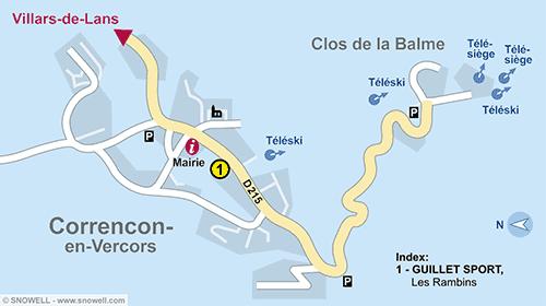 Resort Map Correncon-en-Vercors
