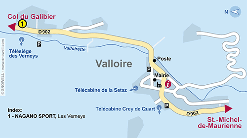 Resort Map Valloire