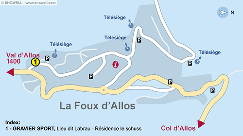 Resort Map La Foux d'Allos