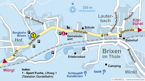 Resort Map Brixen im Thale