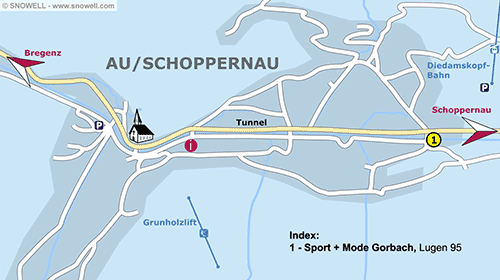 Resort Map Au/Schoppernau